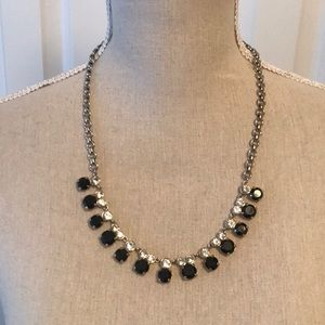 J. Crew black and crystal necklace
